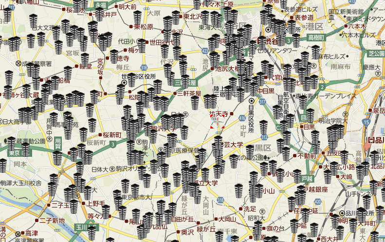 ダイレクトレスポンスのマンション集客MAP